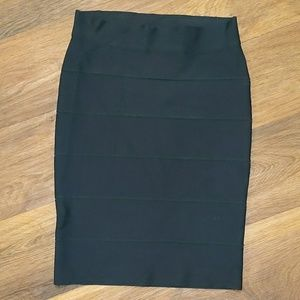 BCBGmaxazria black bandage pencil skirt stretch